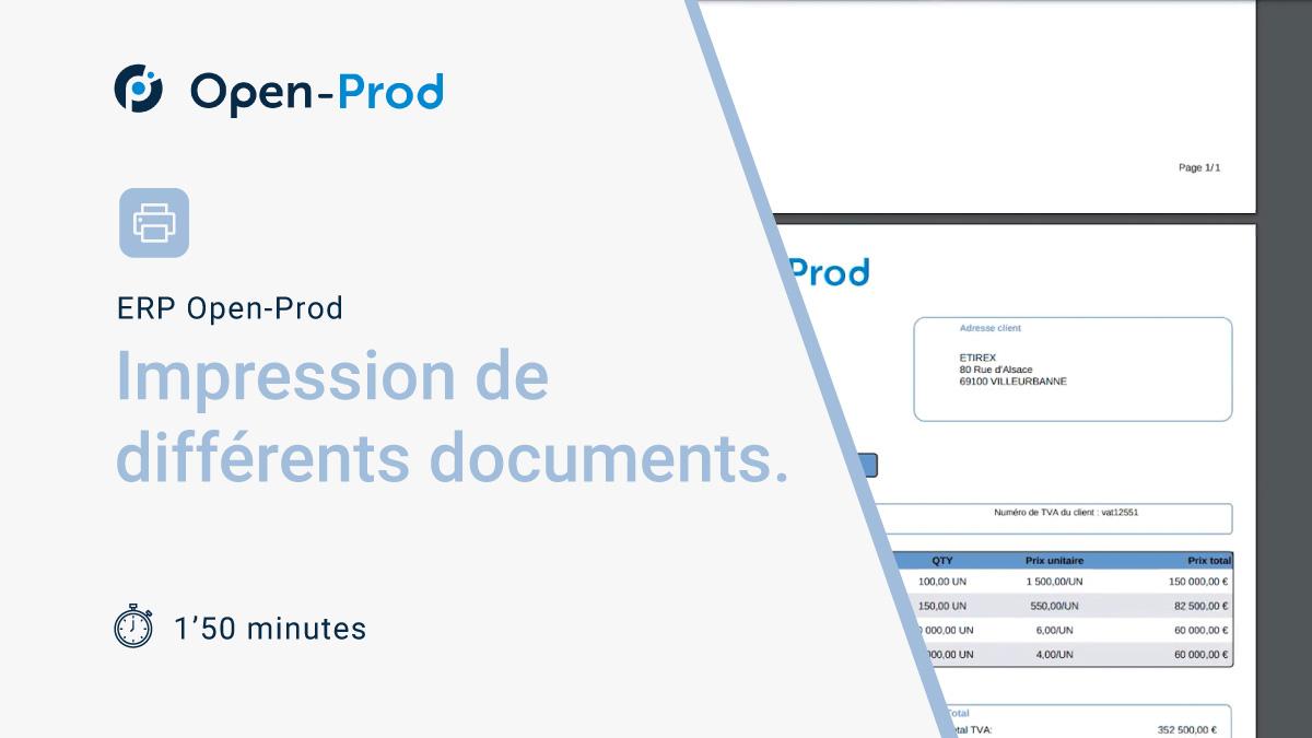 Impressions de différents documents